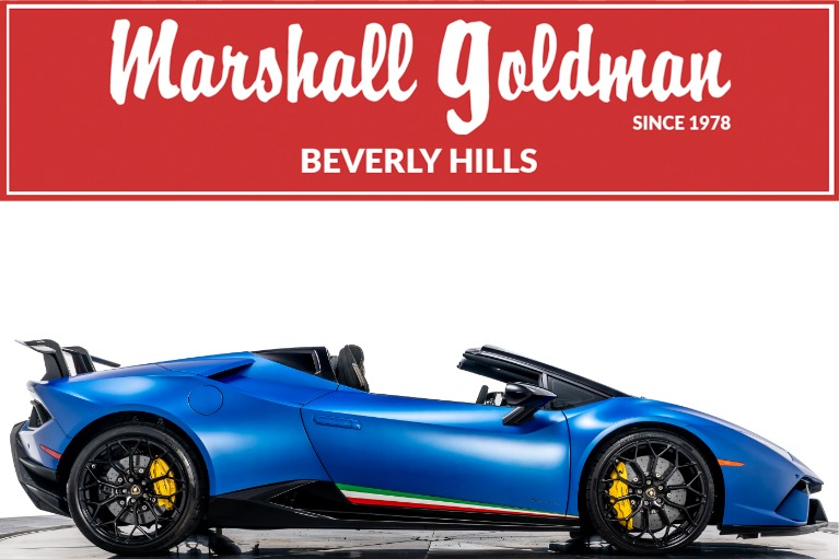 Used 2019 Lamborghini Huracan LP 640-4 Performante Spyder for sale $328,900 at Marshall Goldman Beverly Hills in Beverly Hills CA